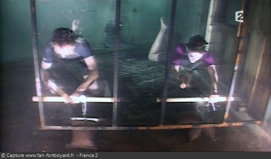 Fort Boyard - Relais-arbalète - Etape 2 : Le sciage sous-marin avec le candidat-plongeur
