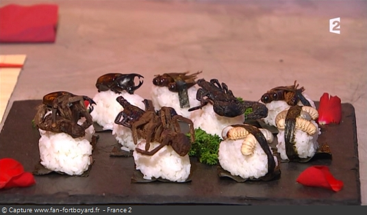Fort Boyard - Chez Willy Rovelli - Sushis aux insectes