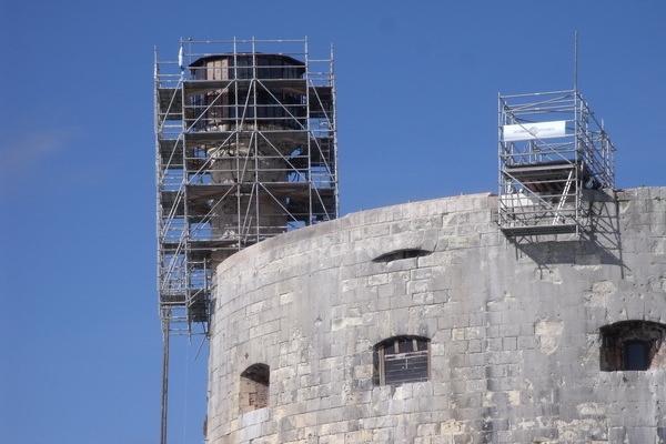 Restauration de la vigie de Fort Boyard (2011) - Les travaux
