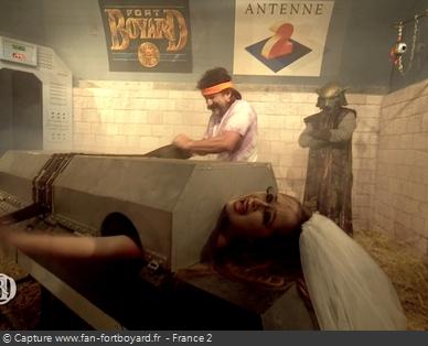 Fort Boyard - Voyage dans le temps - Femme coupée