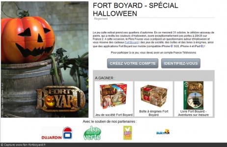 Jeu-concours Fort Boyard Halloween 2012