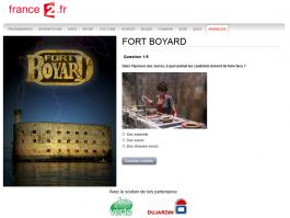 Capture du jeu-concours France 2-Fort Boyard 2012