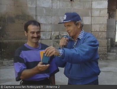 Les Clés de Fort Boyard 1990 : Tirage au sort pour le saut à l'élastique de la Clé en Or
