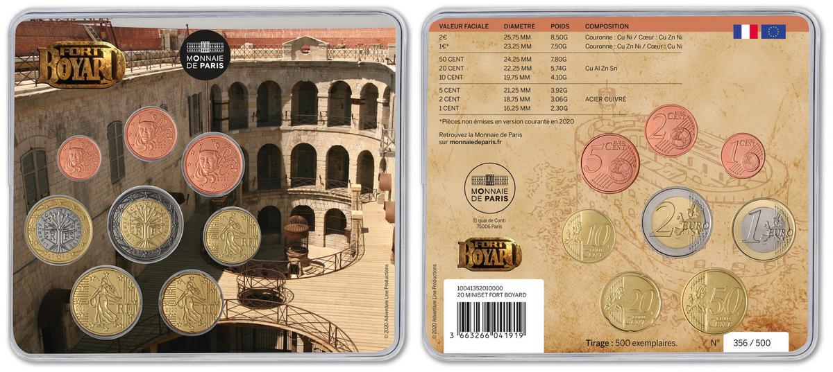 Miniset avec la cour intérieure de Fort Boyard - Monnaie de Paris (2020)
