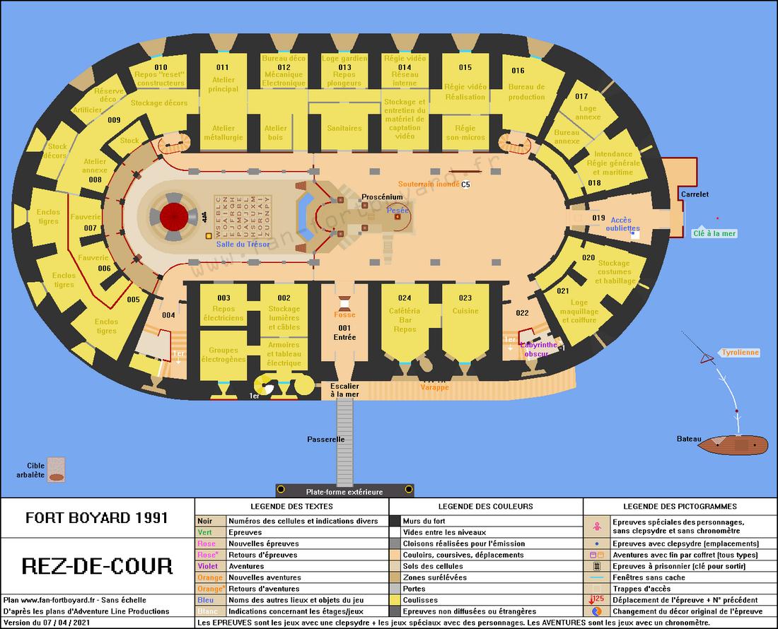 Fort Boyard 1991 - Rez-de-cour