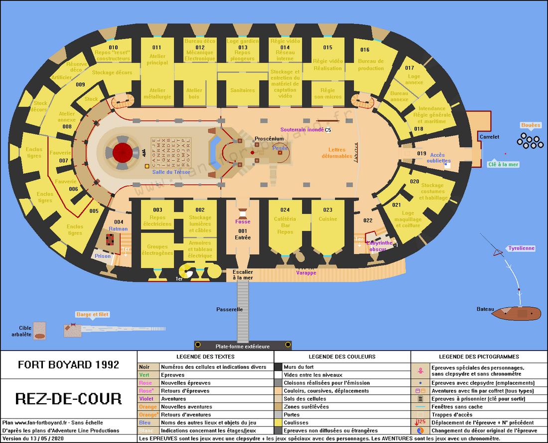 Fort Boyard 1992 - Rez-de-cour
