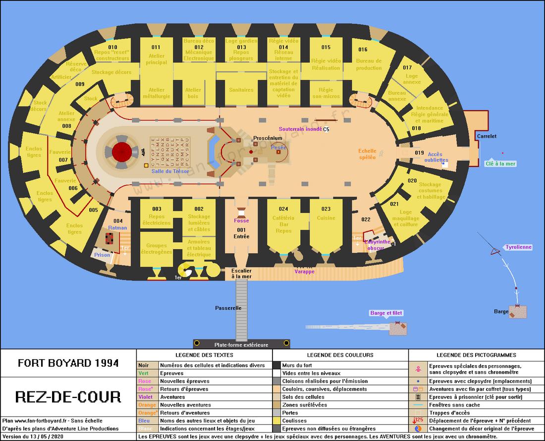 Fort Boyard 1994 - Rez-de-cour