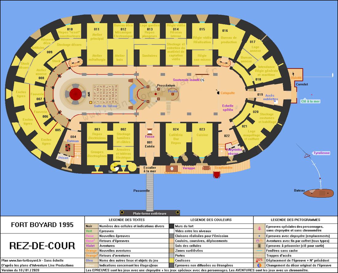 Fort Boyard 1995 - Rez-de-cour