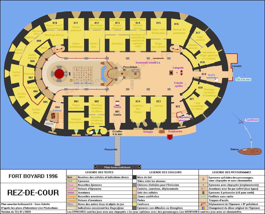 Fort Boyard 1996 - Rez-de-cour