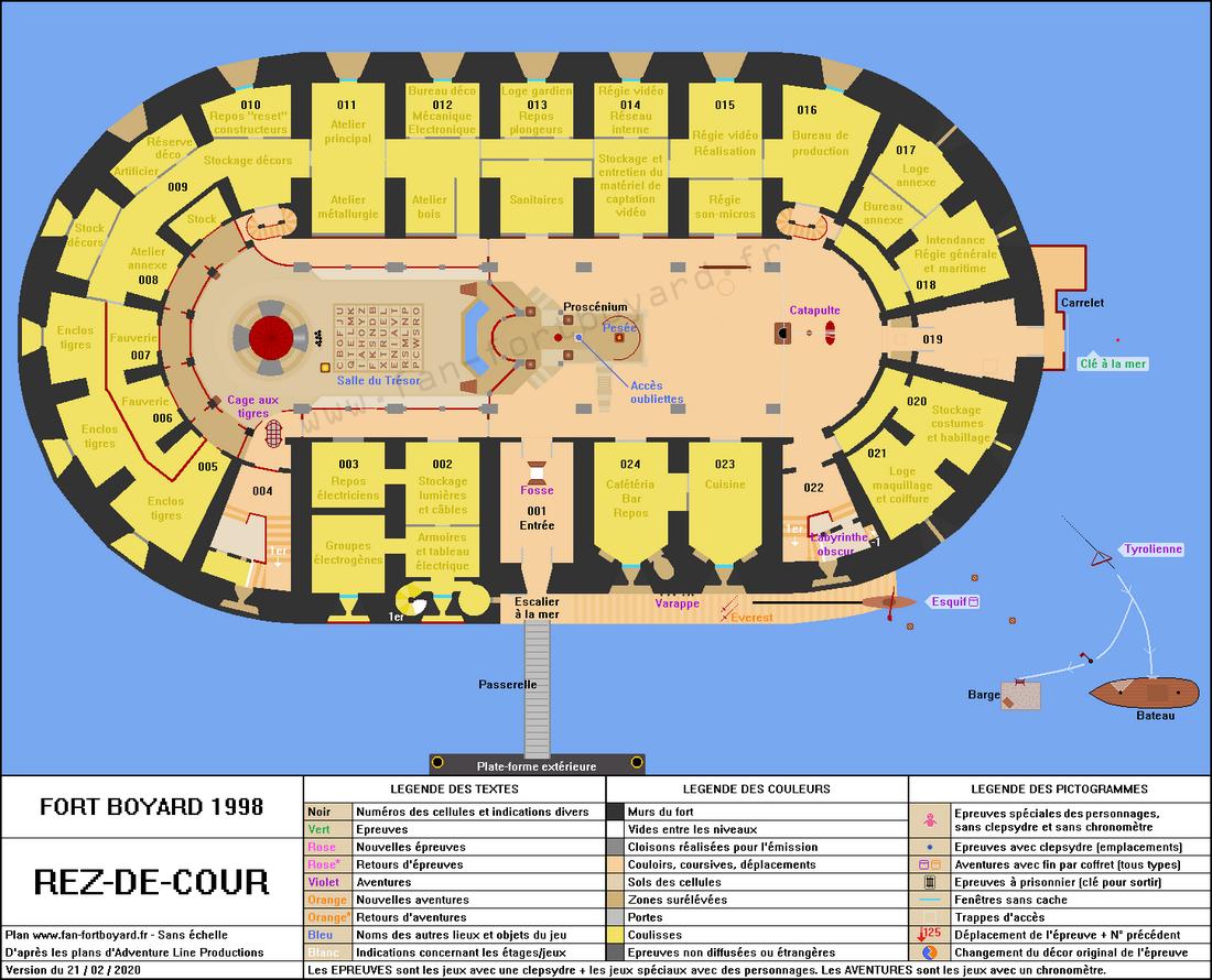 Fort Boyard 1998 - Rez-de-cour