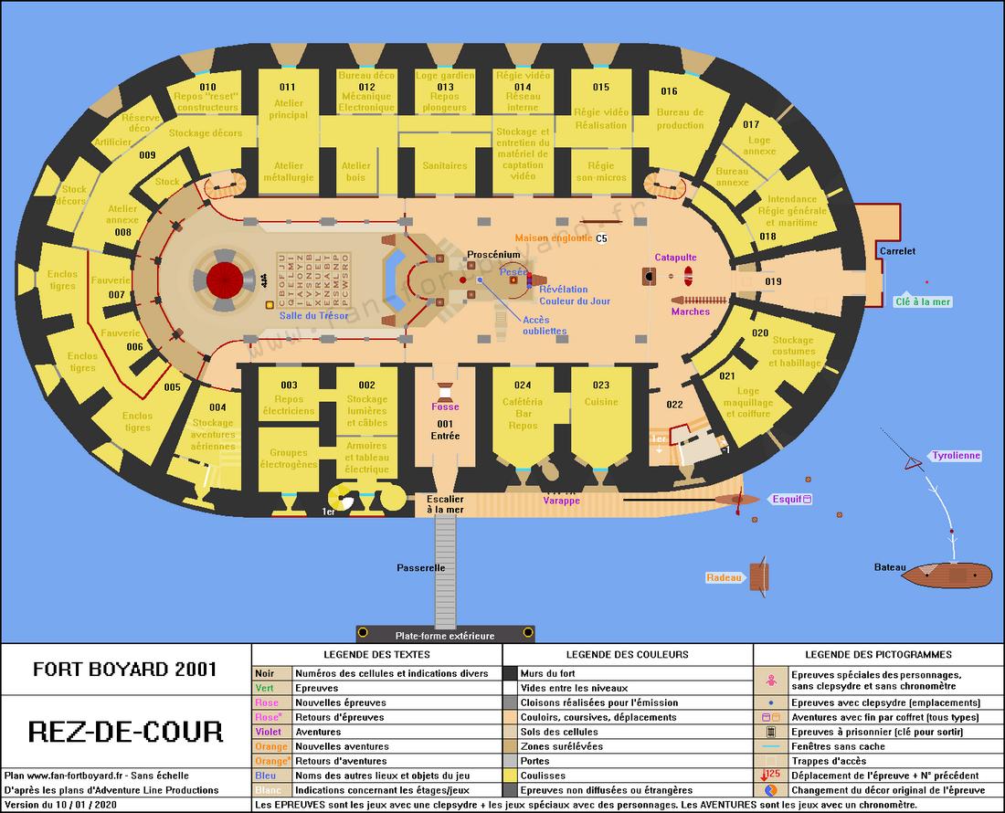 Fort Boyard 2001 - Rez-de-cour