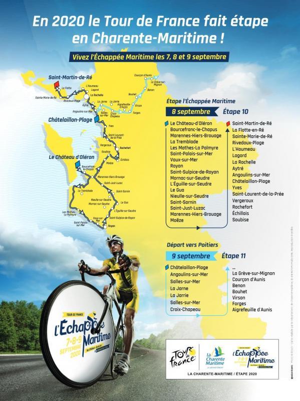 Le Tour De France 2020 Passe En Charente Maritime Et Fait Presque Le Tour Du Fort Boyard